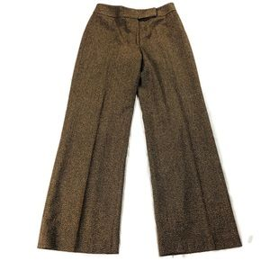 Ann Taylor Loft Tweed Wide Leg Trouser Pants Sz 6
